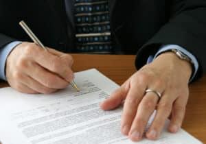 Gesetzliches Widerrufsrecht unterzeichnen